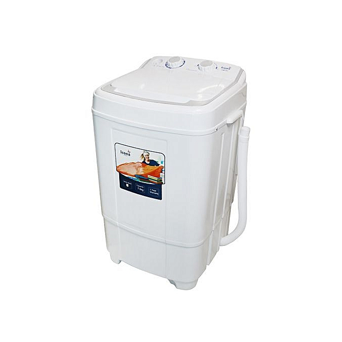 Icona 7.5 Kg semi auto washing machine