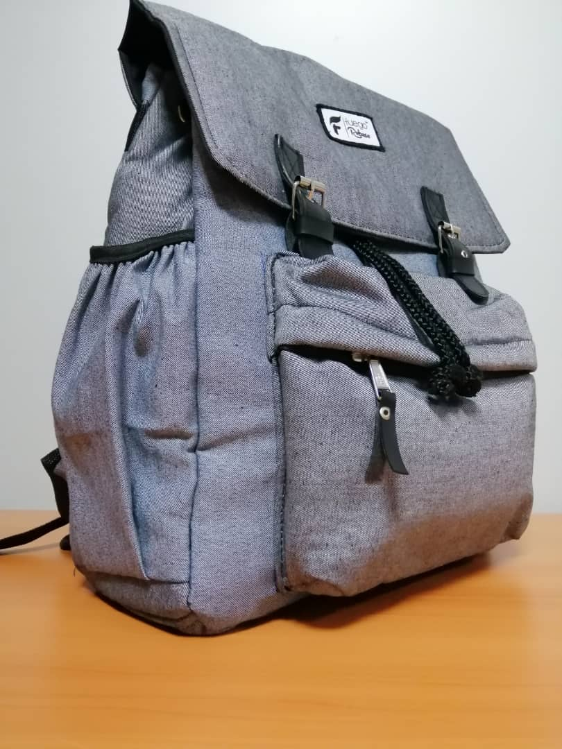 Gray color laptop bag