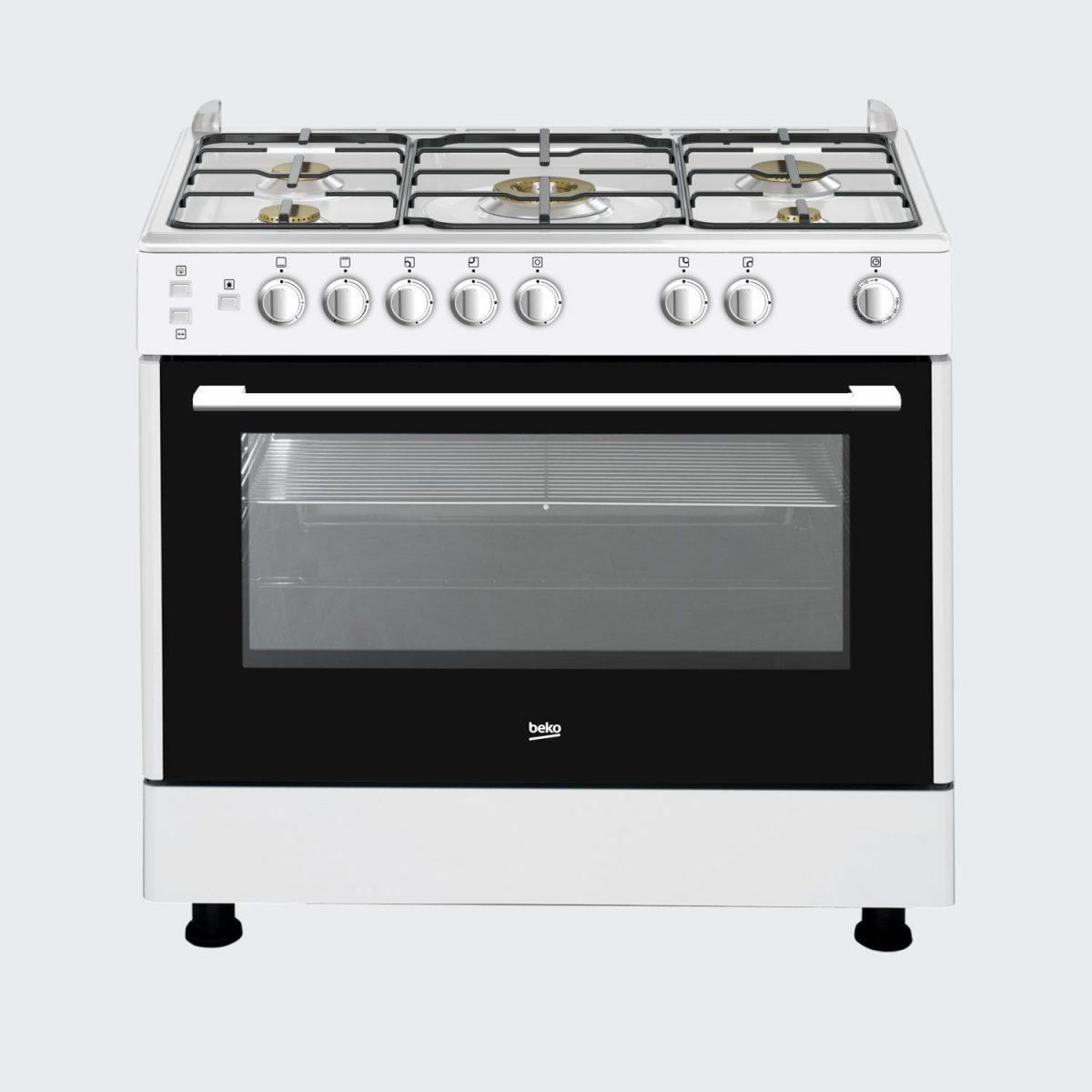 BEKO 5 Burner Gas Cooker (GG 15117 CWYV) – 90×60