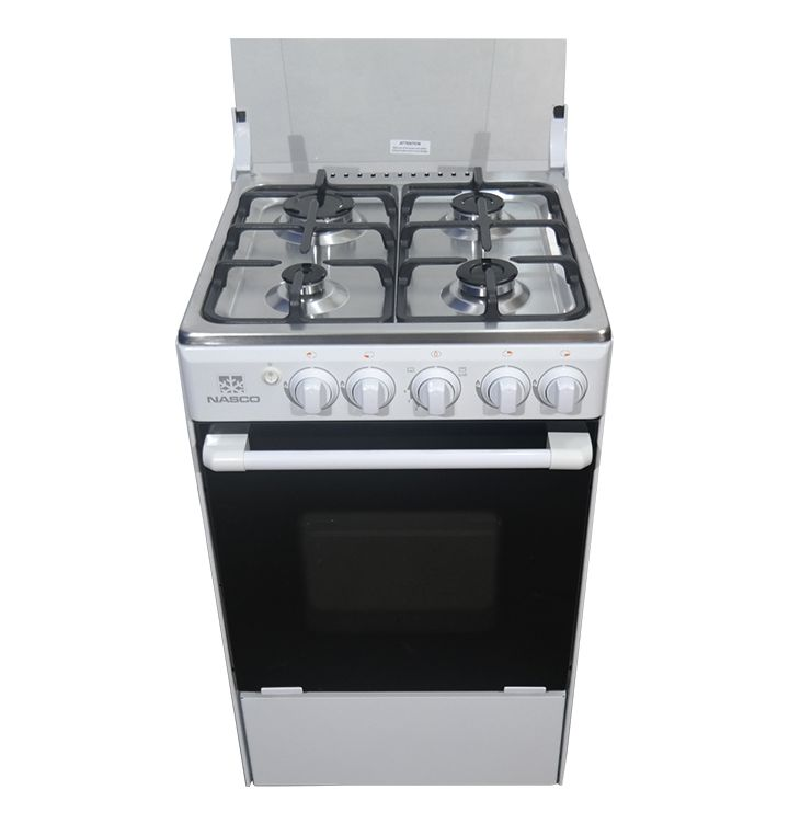 Nasco NASGC-BME50W 4 Burner Gas Cooker with Oven & Grill