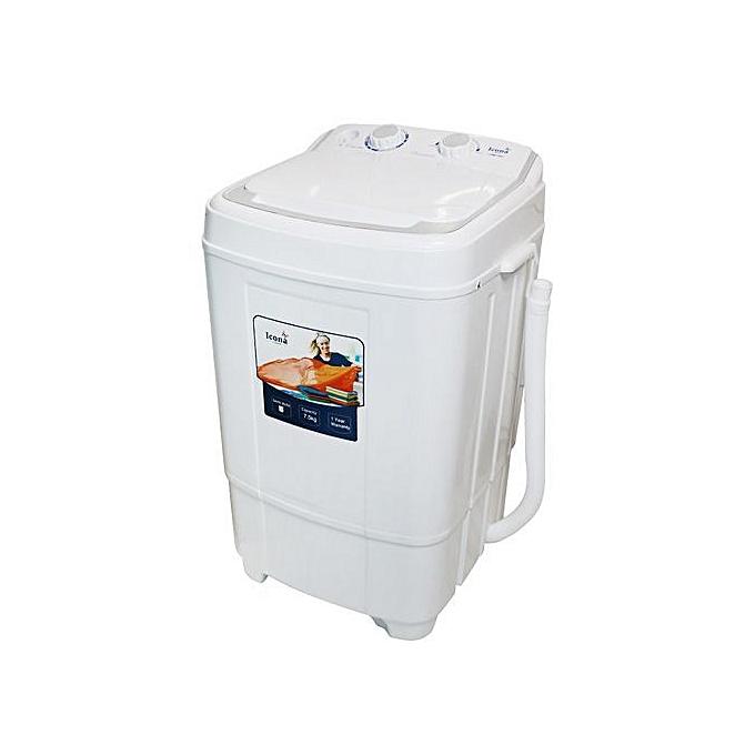 Icona 7.5 Kg semi auto washing machine