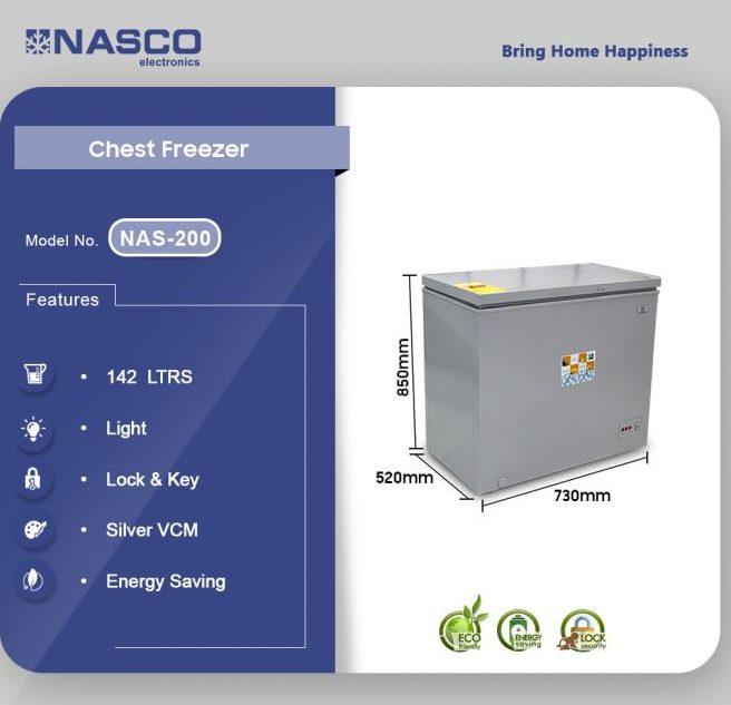 nas-200x 142 Liter Deep freezer Chest freezer Nasco
