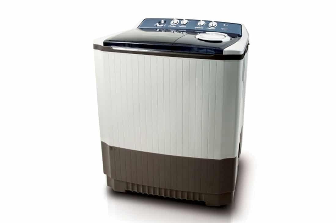 Twin Tub Washing Machine 16kg, Blue White, Roller Jet Pulsator, Wind Jet Dry, Pre Soak Function